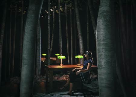 Biblioteca a noite – uma obra de arte em formato virtual